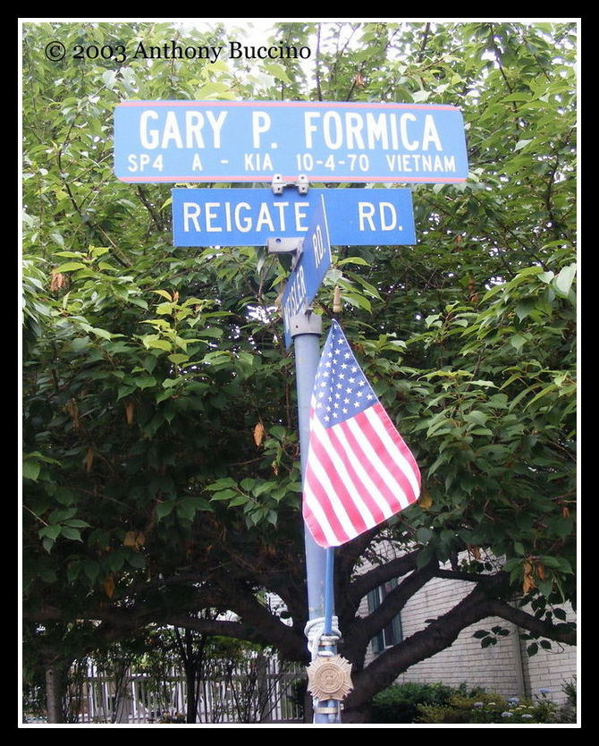 Gary P. Formica memorial, photo by Anthony Buccino 2013