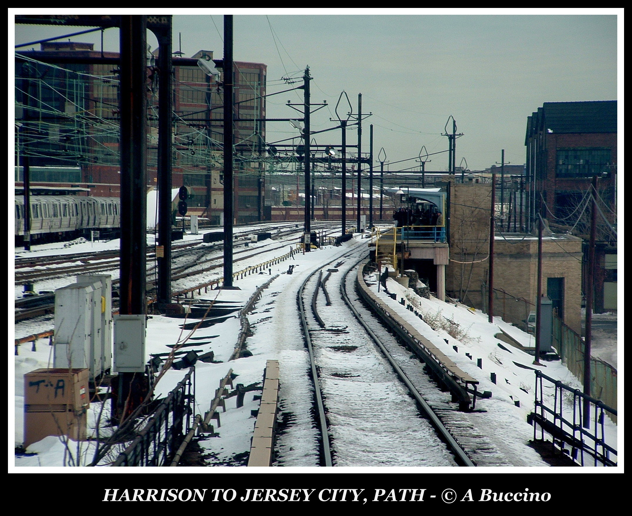 PATH commuter line, Coming into Harrison Station, Harrison, NJ
