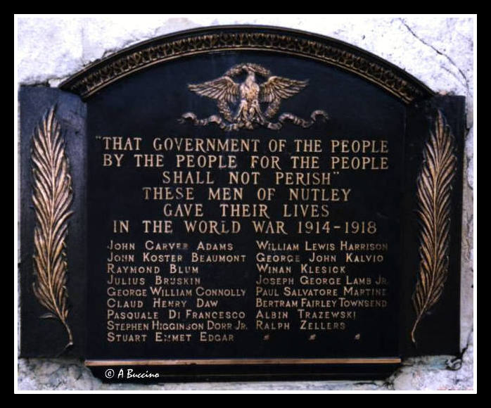 WWI Memorial, Nutley NJ by Anthony Buccino