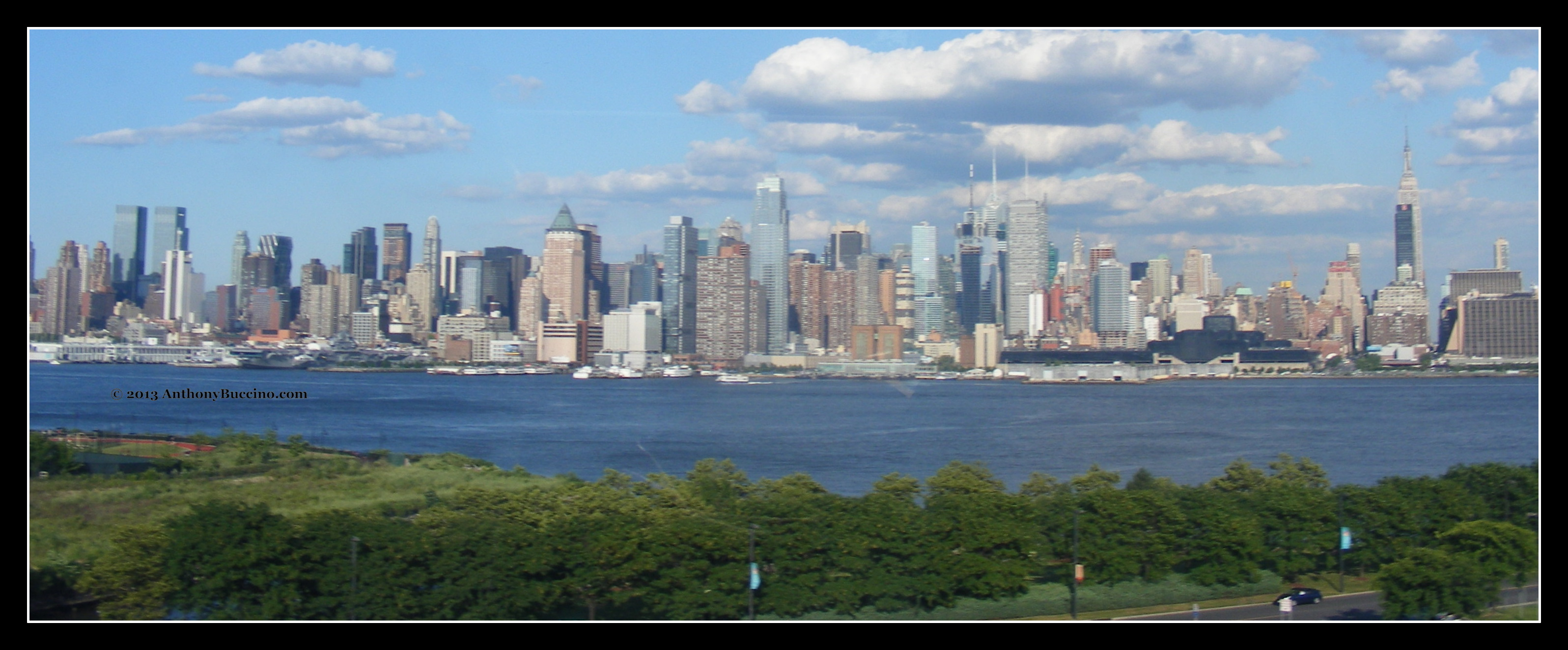 View of Manhattan from Lincoln Tunnel helilx - photo by Anthony Buccino